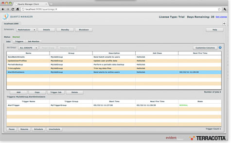 Screenshot of Quartz Manager